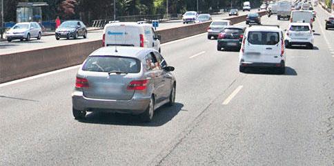 Imagen de la carretera captada por una cámara